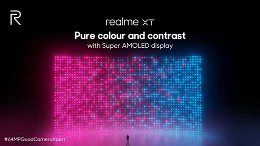 realme xt display and design