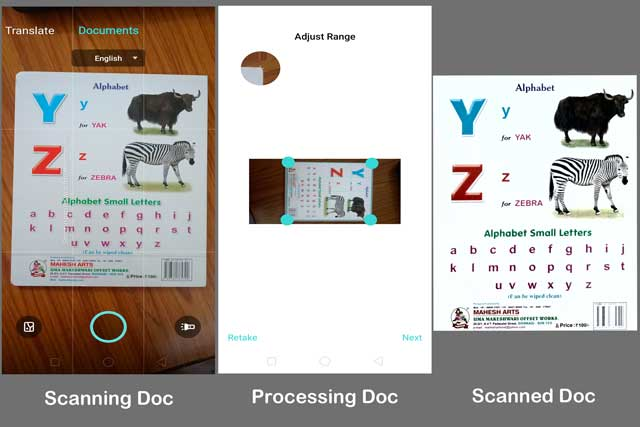 how to scan documents in realme with scan doc